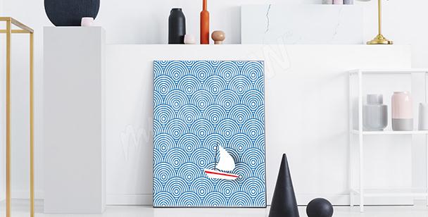 Geometrický plakát moře