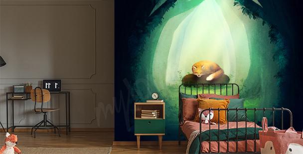 Grafická fototapeta do dětského pokoje