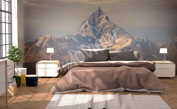 Grafická fototapeta hory