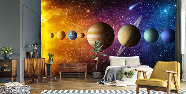 Grafická fototapeta planety