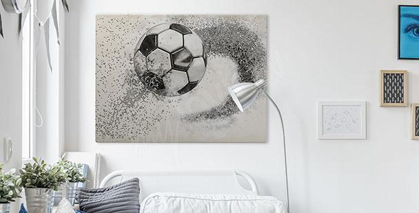 Grafický obraz s míčem