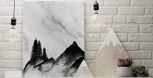 Horský obraz minimalismus