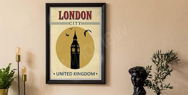 Jakoby starý plakát s architekturou
