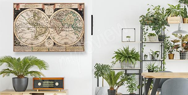 Kartografický obraz ve starém stylu