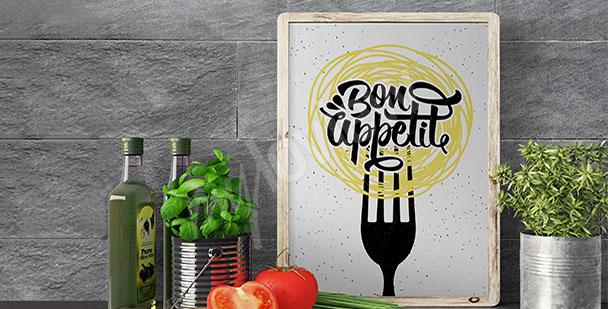 Kuchyňský plakát s heslem