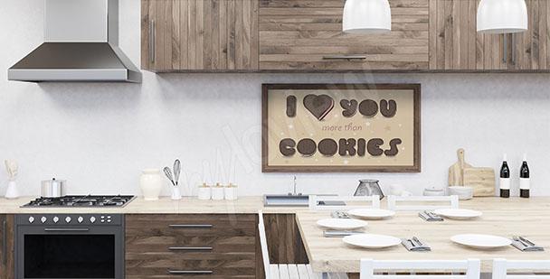 Kuchyňský plakát sušenky