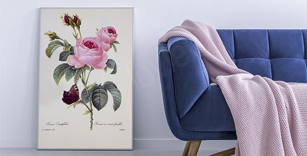 Květinový plakát příroda