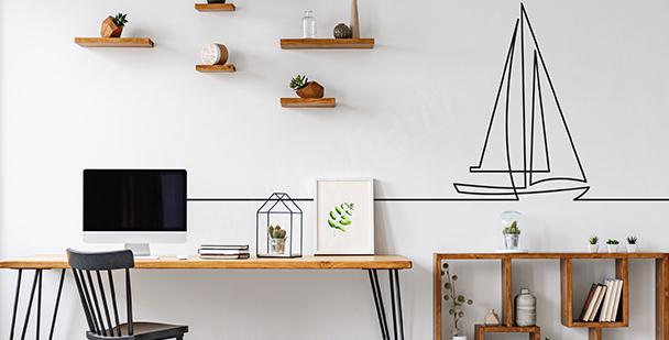 Minimalistická nálepka do kanceláře