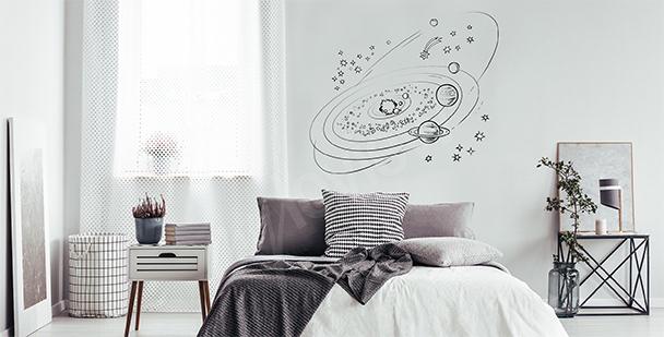 Minimalistická nálepka galaxie