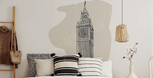 Minimalistická nálepka Londýn