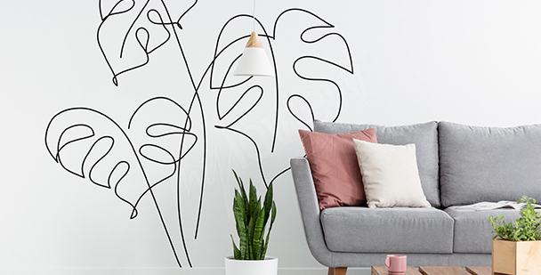 Minimalistická nálepka obývacího pokoje