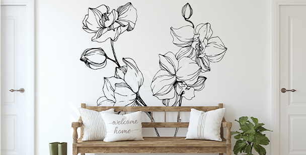 Minimalistická nálepka orchidej