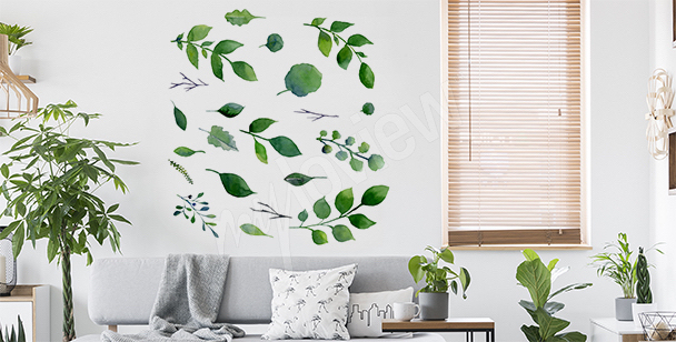 Minimalistická nálepka zeleň