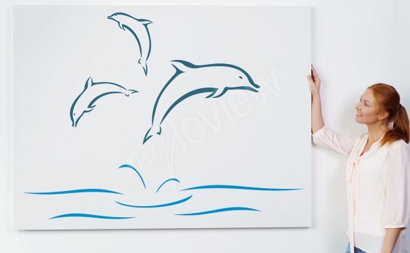 Minimalistický obraz delfín