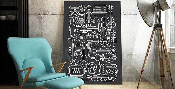Moderní hudební plakát