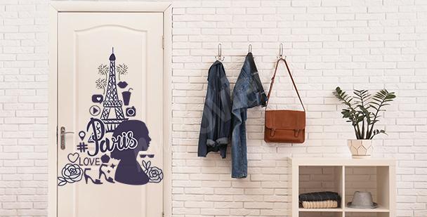 Moderní nálepka na dveře