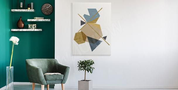 Moderní obraz s abstrakcí