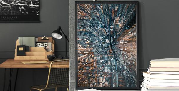 Moderní plakát město