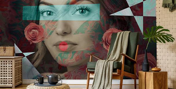 Modernistická fototapeta žena
