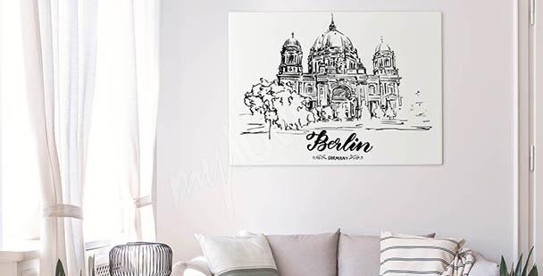 Monochromatický obraz Berlín