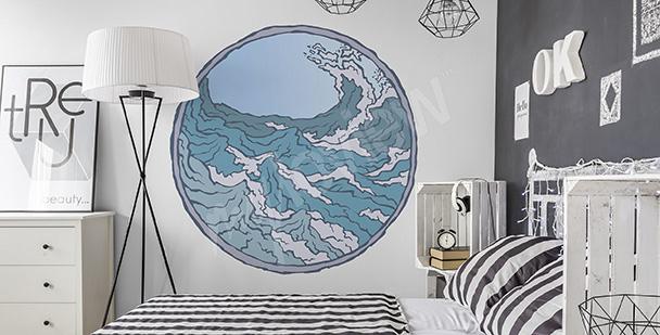 Mořská nálepka do ložnice