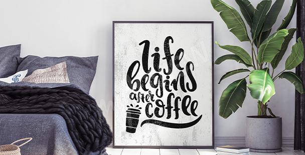 Motivační plakát do ložnice