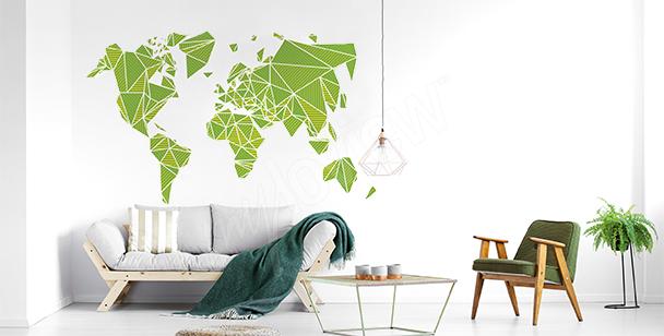 Nálepka 3D s mapou světa