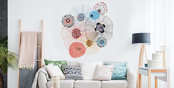 Nálepka abstraktní kruhy