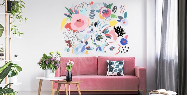 Nálepka abstraktní květiny
