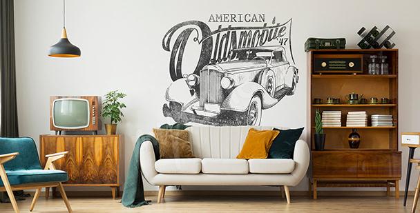 Nálepka americké auto