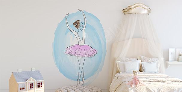 Nálepka baletka v pastelových barvách