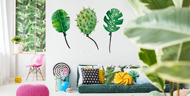 Nálepka balóny z listí