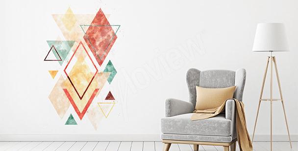 Nálepka barevná geometrie