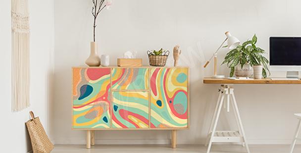 Nálepka barevný vzor
