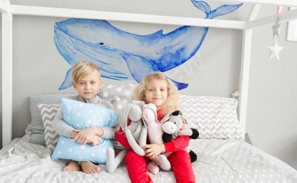 Nálepka do dětského pokoje velryba