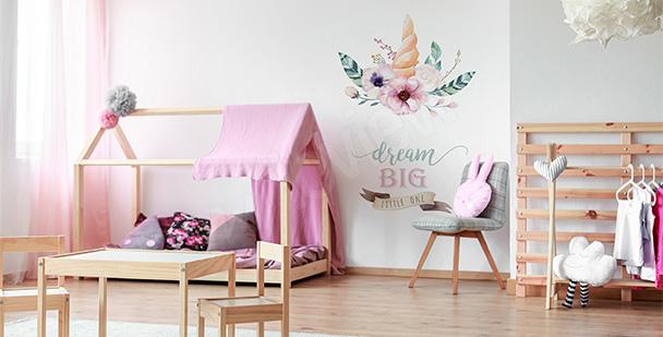 Nálepka do holčičího pokoje s nápisem