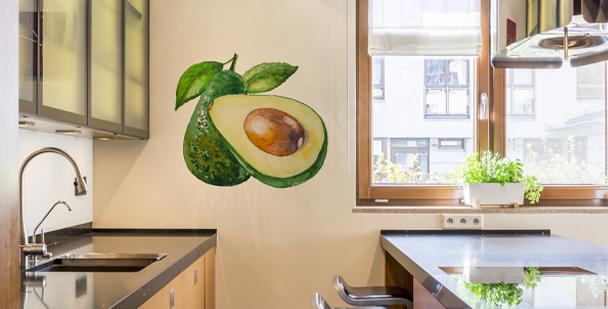 Nálepka do kuchyně s avokádem