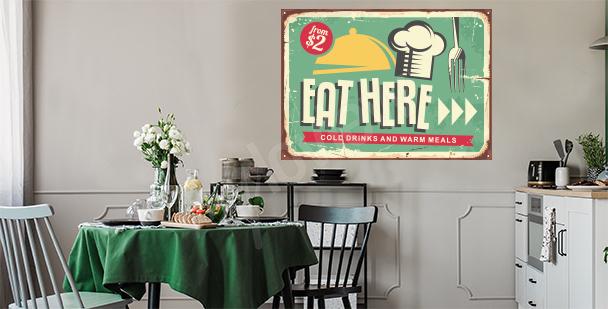 Nálepka do kuchyně v retro stylu
