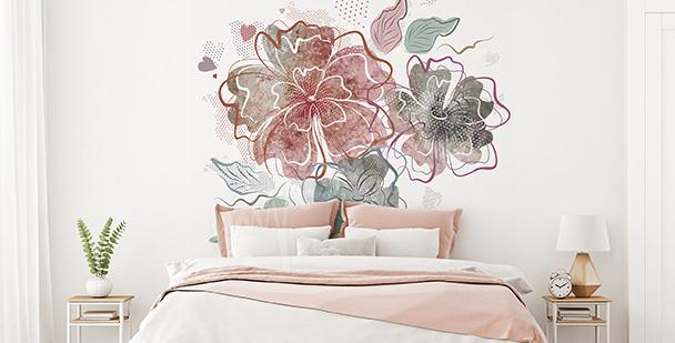 Nálepka do ložnice: květiny