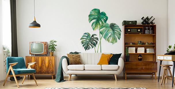 Nálepka do obývacího pokoje s listím