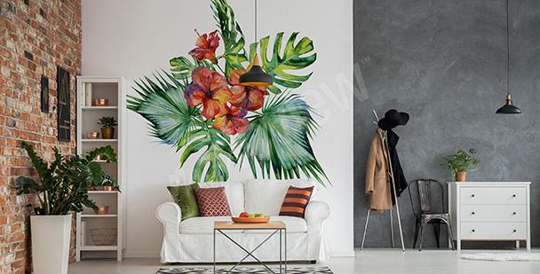 Nálepka exotická rostlina