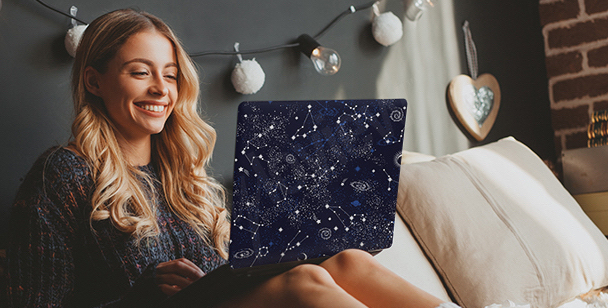 Nálepka galaxy na počítač