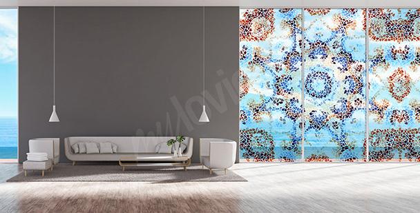 Nálepka geometrická mozaika