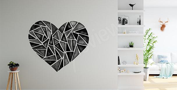 Nálepka geometrické srdce