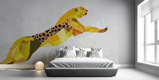 Nálepka geometrický gepard