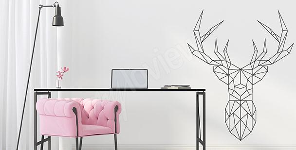 Nálepka geometrický jelen