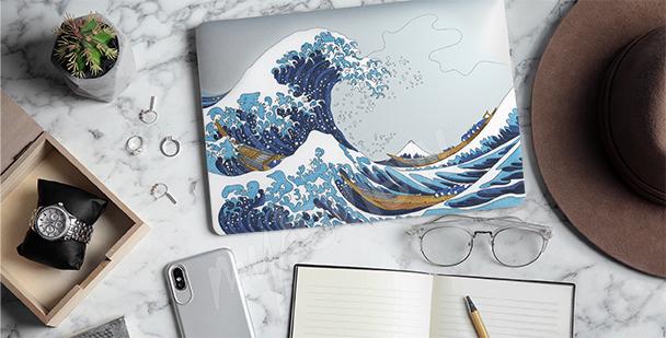 Nálepka Hokusai – Velká vlna