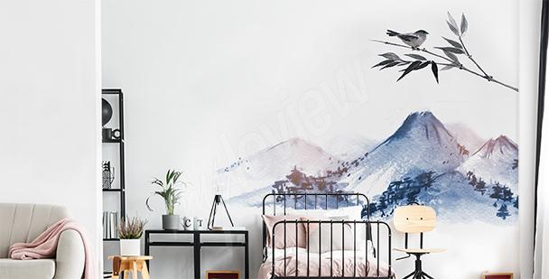 Nálepka hory do ložnice