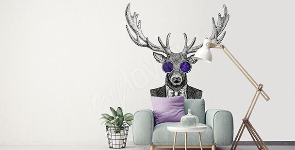 Nálepka jelen do obývacího pokoje hipstera