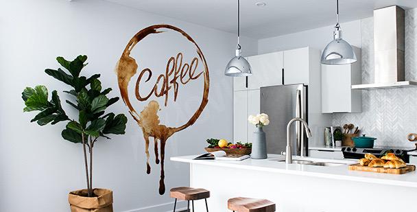 Nálepka káva  v akvarelu